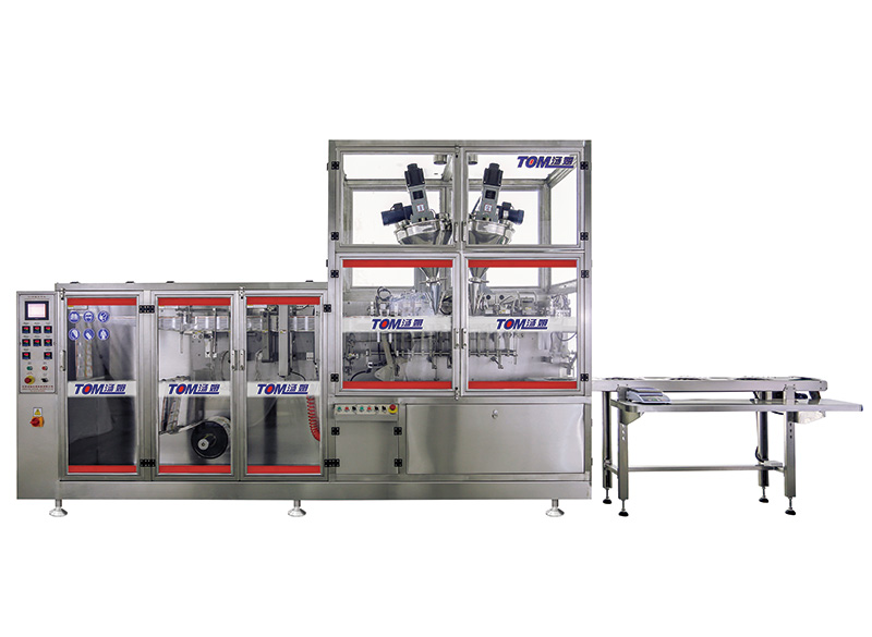 FJ-180 horizontal automatic packaging machine for powder and liquid(liquid and paste filling equipment )