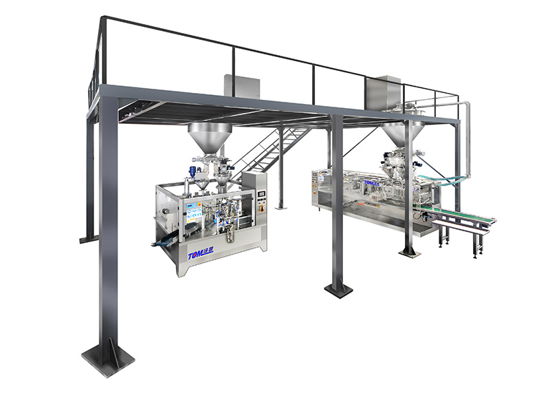 Powder and granule packing plant layout