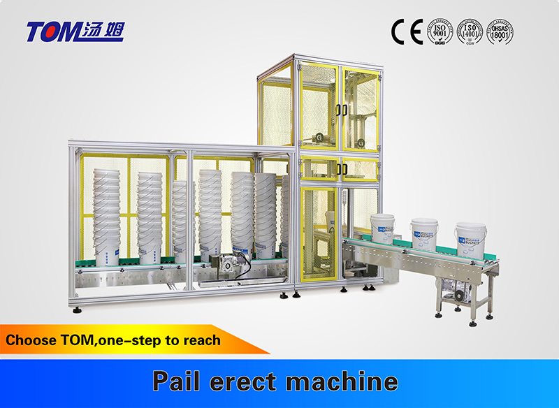 Pail erect machine